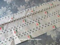 18世紀 アンティーク シルク製 ファブリック 花模様