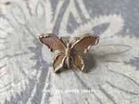 アンティーク メタル製 ボタン 蝶