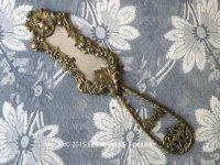 アンティーク 小さな手鏡 天使&薔薇のガーランド