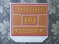 1900年代 アンティーク ラベル 『LU』バニラウエハース GAUFRETTES VANILLE - LEFEVRE-UTILE -