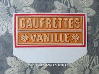 1900年代 アンティーク ラベル 『LU』バニラウエハース GAUFRETTES VANILLE NANTES - LEFEVRE-UTILE -