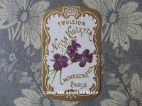 アンティーク パフュームラベル EMULSION NIZZA VIOLETTA - F.MOREAU & FILS PARIS -