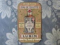 アンティーク パフュームカード EAU DE TOILETTE LUBIN - LUBIN PARIS -