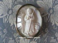 19世紀末 アンティーク ルリケール ジャンヌダルク ガラスドーム  JEANNE D'ARC