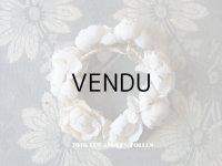アンティーク ドール用 白い薔薇のヘッドリース ティアラ
