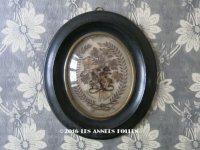 19世紀末 アンティーク ルリケール 聖遺物のガラスドーム 花束 木製フレーム