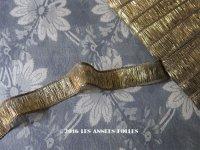 19世紀末 アンティーク メタル製  トリム ゴールド