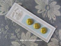 1900年代 アンティーク シルクサテンのくるみボタン 緑黄色 12mm  3ピース