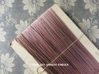 1920年代 アンティーク  刺繍用 紐  糸 スモーキーパープル 約70m