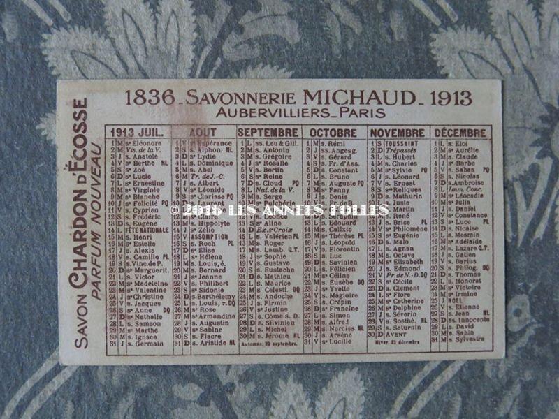 画像2: 1913年 アンティーク パフュームカード SAVON N.B.DES VERTUS - SAVONNERIE MICHAUD -