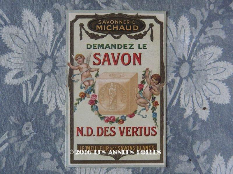 画像1: 1913年 アンティーク パフュームカード SAVON N.B.DES VERTUS - SAVONNERIE MICHAUD -