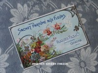 1900年代 アンティーク パウダーサシェの紙袋 SACHET PARFUME AUX FLEURS - HUGUES FILS & CIE -