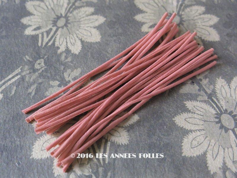 画像1: 1930年代 アンティーク コサージュ用 茎 オールドローズ 24ピース 11cm