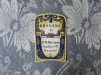 アンティーク パフュームラベル リボンのガーランド KHASANA - Dr.M.ALBERSHEIM -