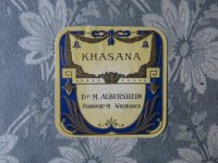 アンティーク パウダーボックスのラベル リボンのガーランド KHASANA - Dr.M.ALBERSHEIM -