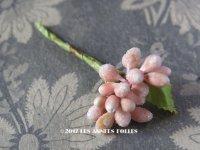 1900年代 アンティーク ペップ  淡いピンク コサージュ用 花芯 髪飾り