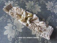 19世紀末 アンティーク 花嫁の靴下どめ ワックスフラワー ジャルティエ