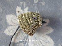 アンティーク  帽子用 飾り 鳥 オリーブグリーン