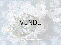 19世紀末 アンティーク 花嫁のブーケ 花模様のレース&シルク製ジャガード織リボン ウェディングブーケ