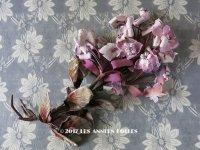 19世紀末 アンティーク 紫の花のコサージュ