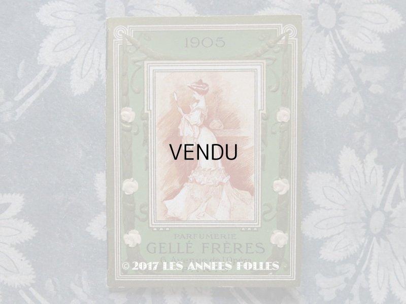 画像1: 1905年 アンティーク カレンダー手帳  - GELLE FRERES -