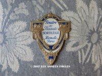 アンティーク 小さなパウダーボックスのラベル POUDRE DE BEAUTE SORTILEGE - HARMELLE PARIS -
