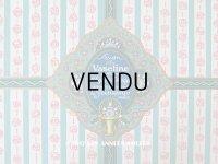 アンティーク ソープラベル ピンクの薔薇模様 SAVON VASELINE PARFUME A L'EAU DE COLOGNE - GRANDS MAGASINS DU PRINTEMPS PARIS -