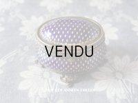 19世紀 アンティーク ジュエリーボックス 青紫のエナメル