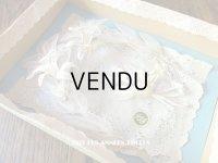 未使用 1920年代 箱入り アンティーク 白百合のヘッドリース & ブローチ2点のセット ウェディング 結婚式 ティアラ