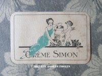 1920年 アンティーク パフュームカード - CREME SIMON PARIS -