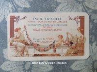 1922年 アンティーク パフュームカード 薔薇のガーランド LE SAVON A L'EAU DE COLOGNE - PAUL TRANOY PARIS -