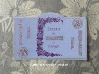 アンティーク パフュームラベル EXTRAIT DE VIOLETTE DE PARME - ROGER&GALLET -