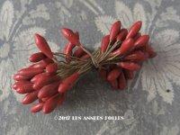 1900年代 アンティーク ペップ 赤紅色 コサージュ用 花芯