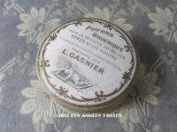 1900年代 アンティーク パウダーボックス POUDRE HYGIENIQUE - L.GASNIER -