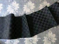 19世紀末 アンティーク シルク製 ダミエ柄のリボン