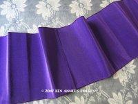 1900年代 アンティーク シルク製 幅広 グログランリボン 紫 1.8m