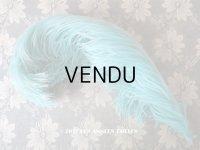 19世紀末 アンティーク  帽子用 フェザー ターコイズブルー 羽飾り