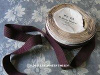 1900年代 アンティーク ニット風 グログランリボン シルク&コットン製 10.4m 桑の実色