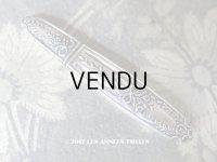 19世紀 アンティーク シルバー製 ニードルケース  花&リボン柄 裁縫道具
