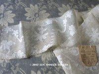 18世紀 アンティーク 手編みの ヴァランシエンヌレース 花模様