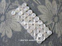 アンティーク ドール用 6.5mm マザーオブパール製 ボタン シェルボタン 36ピース