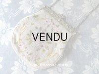 19世紀末 アンティーク  オモニエール 薔薇のブーケ & ガーランド ニードルポイント