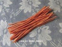 1930年代 アンティーク コサージュ用 茎 オレンジ 24ピース 11〜11.5cm
