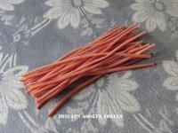 1930年代 アンティーク コサージュ用 茎 柿色 24ピース 9〜9.5cm