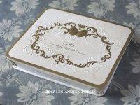1950年代 アンティーク 『マルキーズ・ ドゥ・セヴィニエ』 ドラジェのお菓子箱 バテム BAPTEME 16 JUILLET 1955 - MARQUISE DE SEVIGNE PARIS -