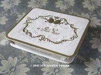 1950年代 アンティーク 『マルキーズ・ ドゥ・セヴィニエ』 ドラジェのお菓子箱 バテム BAPTEME 17 JUIN 1957 - MARQUISE DE SEVIGNE PARIS -