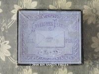 19世紀 アンティーク 封筒の紙箱 ENVELOPPES FERMOIR