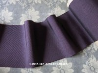 1900年代 アンティーク シルク製 グログランリボン 深紫 5.4m PON 4178 N 80 COL.295