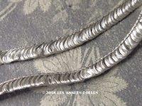 1900年代 アンティーク  トリム メタル糸&シルバーのフリンジ