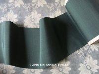 1900年代 アンティーク シルク製 幅広 リボン グリーン 9.5m PON 4160 N 80